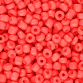 Rocailles Coral red 3mm 8/0, 10 gram