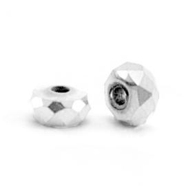 Kralen van hematite disc facet 4x2mm Silver 63188