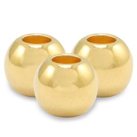 DQ metaal kralen goud (nikkelvrij) 2,5mm 10 st  73511