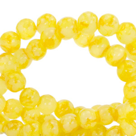 Glaskralen 4 mm gemêleerd Fresia Yellow 67386 50 st.
