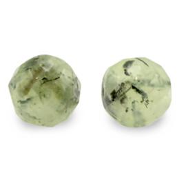 8 mm Natuur steen Kralen Rond Facet geslepen Olive Green per 10 stuks 71128
