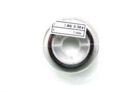 Staaldraad, nylon coated, 0.45 mm dik, 10 meter