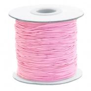 Gekleurd Elastiek 0.8mm Pink per meter