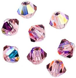 Preciosa Kristal bicone 3 mm - light amenthyst ab 10 st.