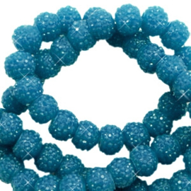 Sparkle beads 6mm Teal blue 10 stuks 47056