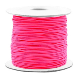 Gekleurd Elastiek 0,8mm Fluor Pink 53042