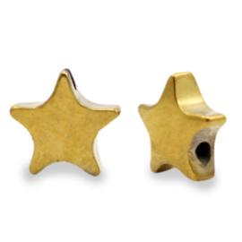 Kralen van hematite ster Gold