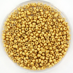 Miyuki rocailles 11/0 - duracoat galvanized gold 4202