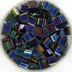 Miyuki tila 5x5 mm - metallic iris variegated blue 455