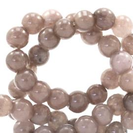 4 mm kralen natuursteen rond Jade Dark taupe brown 49562 per 10 st