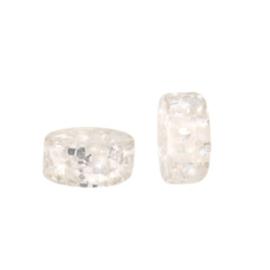 Polaris kralen disc 6mm Glitter Almond oil white 69973 per stuk