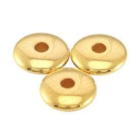 DQ metaal disc kraal 5x1.5mm Goud (nikkelvrij) 10 st.