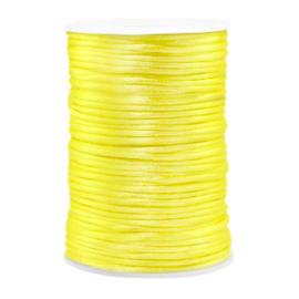 Draad van satijn 2.5mm Yellow 72134 per meter