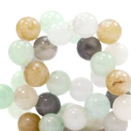 6 mm kralen natuursteen rond Turquoise green 49528 10 st.