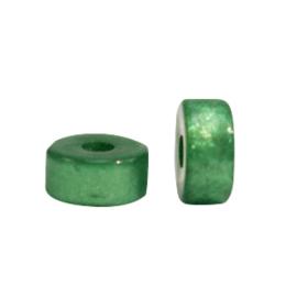 Super Polaris kralen disc 6mm Fir green 69985 per stuk
