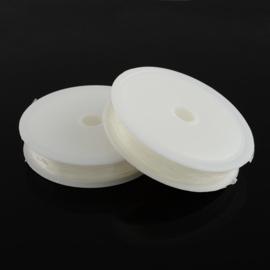 Nylon elastiek koord - 0.7 mm wit 15 meter