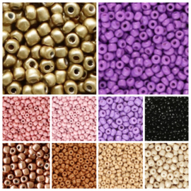 Pakket Rocailles 10 zakjes 10 gram 4mm Purple