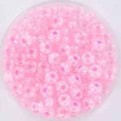 Miyuki rocailles 6/0 - pink lined crystal 207