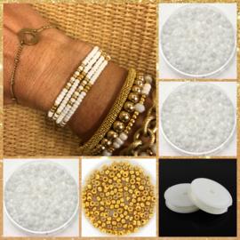 DIY Sieradenpakket Summmer White Gold Miyuki 3mm