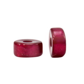 Super Polaris kralen disc 4mm Fuchsia red 70008 per stuk