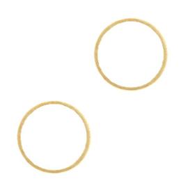 Metaal bedels DQ tussenstuk cirkel 14mm Goud (nikkelvrij) 39817