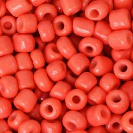 Rocailles 6/0  4 mm 10 gram Neon Coral Orange 68267