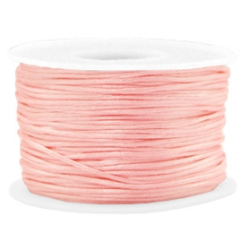 Macramé draad satijn 1.5mm Vintage Pink 1 meter 58766
