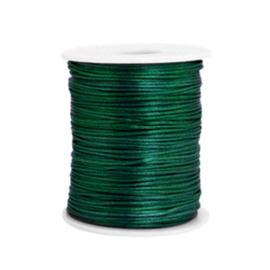 Draad van satijn 1,5 mm Dark Green 72141 per meter