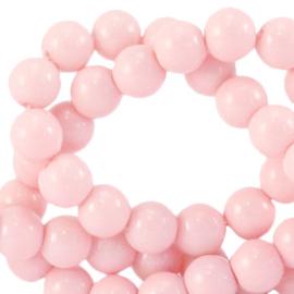 Glaskralen 4 mm opaque Blossom roze 66362 40 st.