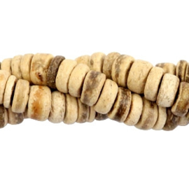 50 st Disc kokos kralen 8mm Light brown 54354 (natuurlijke kleur van kokos)