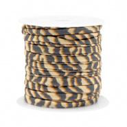 Elastisch stitched lint tiger Beige-Brown 70998 50cm