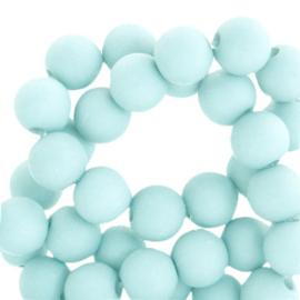 6 mm kralen van acryl Bleached Aqua Blue  59987 (12 gram) ca. 100 stuks