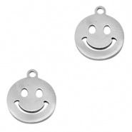 Roestvrij staal (RVS) smiley Zilver per stuk
