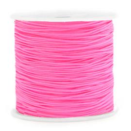 Macramé draad 0,8mm Neon Rose  67448 Per meter