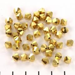 Preciosa bicone 6 mm - crystal aurum full 5 st.