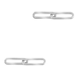 Roestvrij staal (RVS) tussenstuk dubbele schakel oval Zilver 72156 per st.