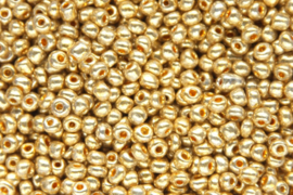 Rocailles  electroplated 4x2,5mm, Goud 5 gram