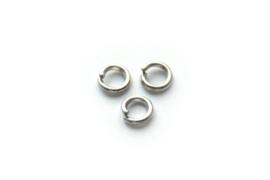 Montage ringetje 4 mm zilver 20 stuks