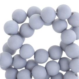 6 mm kralen van acryl mat Haze grey 46710 12 gram (ca. 100 st.)