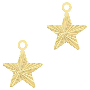 TQ metaal brass bedel star Goud