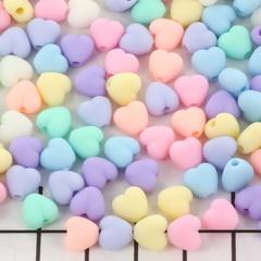 Snoepjes Hartjes kralen mix 7 mm 10 st,