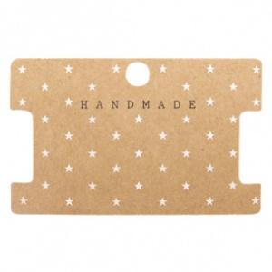 """Kaartjes voor sieraden """"Handmade"""" Brown"""