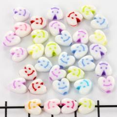 Lachende hartjes mix kraal mix 7 mm 10 st.