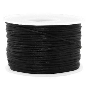 Macramé draad satijn 1.5mm Black 1 meter 58755