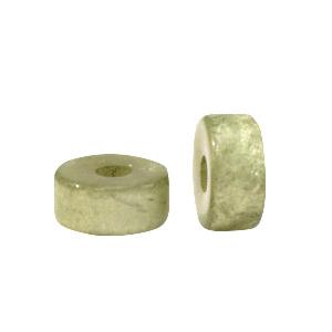Super Polaris kralen disc 6mm Basil green 69987 per stuk