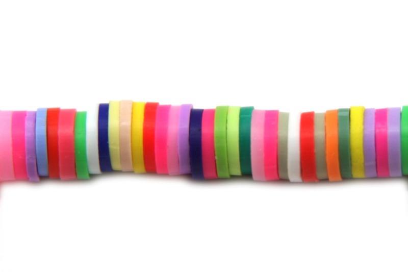 Katsuki Kralen 6 mm Multi colour (6 gram, ca. 100 stuks)