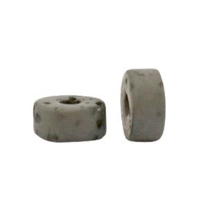 Polaris kralen disc 6mm Lava Quiet grey 69919 per stuk
