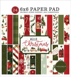 Carta Bella- Hello Christmas - 6x6 Inch Paper Pad (15,2 x 15,2 cm)