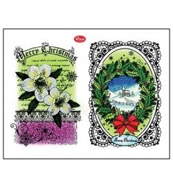 Viva Decor Clear Stamps – Christrosen + Landschaft