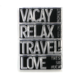 Elizabeth Craft Designs - Block Words - Travel - clearstamps